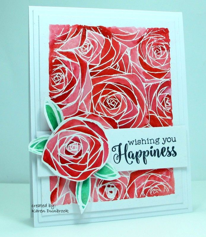 hi there, Congrats to shortonideas aka Camille Short for being the FS this week.  Here is her card I cased: http://www.splitcoaststampers.com/gallery/photo/2294515?&cat=500&ppuser=162985  I changed the poinsettia to roses and stamped my background instead of embossing it.  I painted the background using Brushos over the white heat embossed stamped roses.  Instead of die cutting a flower, I fussy cut out one of he roses.   I also added a sentiment. thanks for looking, my blog…