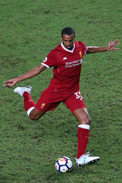 Joel Matip of Liverpool in action during the Premier League Asia Trophy match between Liverpool FC and Leicester City FC at Hong Kong Stadium on July 22, 2017 in Hong Kong, Hong Kong.