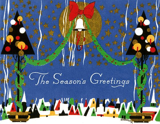 Golden Memories Christmas Correspondence Card Packs: Village Beneath a Bell (Packaged and Boxed Christmas Greeting Cards)