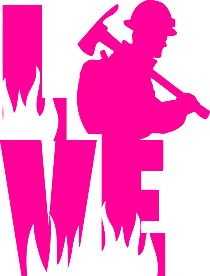 LOVE a Wildland Fire Fighter Decal for Wildland Firefighter Wife, Girlfriend or family