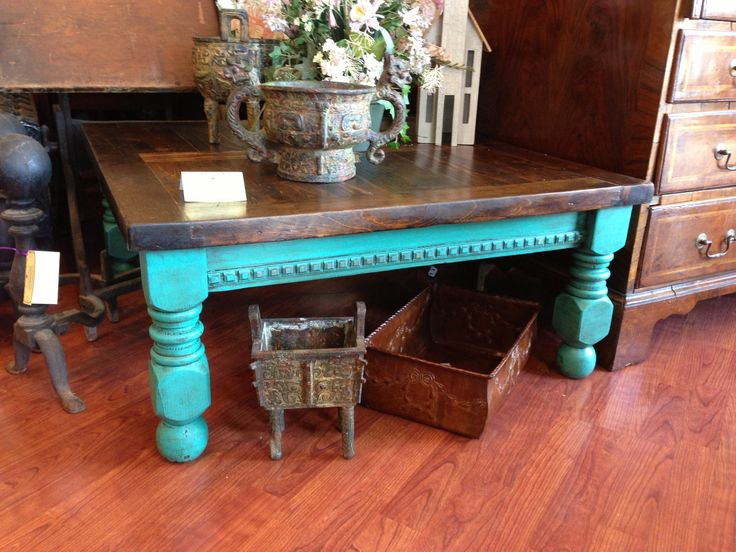 Stunning Florence Color Coffee Table With Dark Wax Cait S Cart Home Goods And Consignments