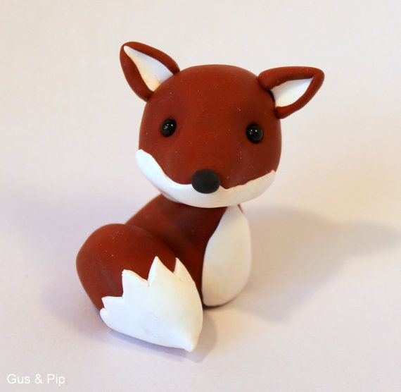 Cute little Woodland Fox Ornament/ Sculpture/ Cake Topper