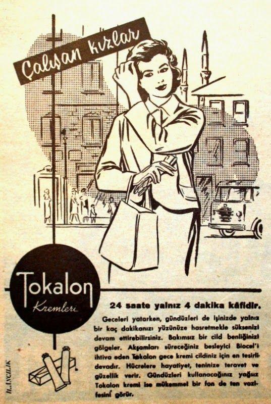 OĞUZ TOPOĞLU : tokalon kremleri 1959 nostaljik eski reklamlar 4