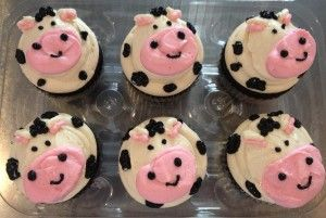 Cow cupcakes my nanna would love these :-)