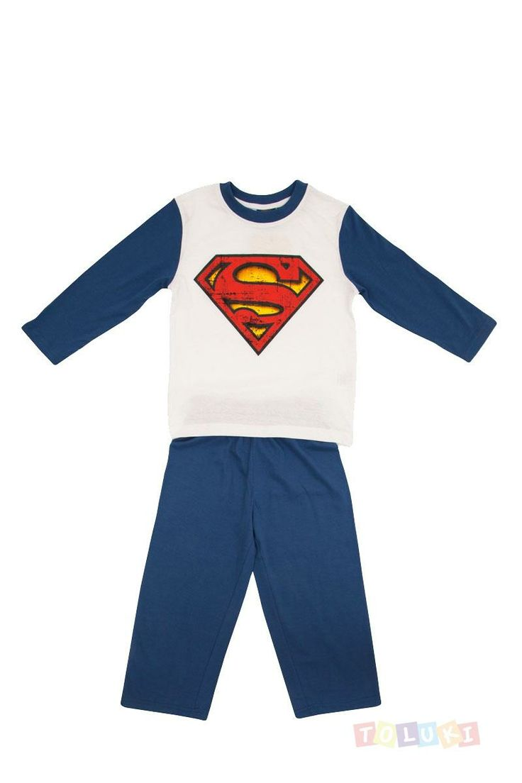 Pyjama Garçon Superman logo https://twitter.com/Tolukicom #enfant #pyjama