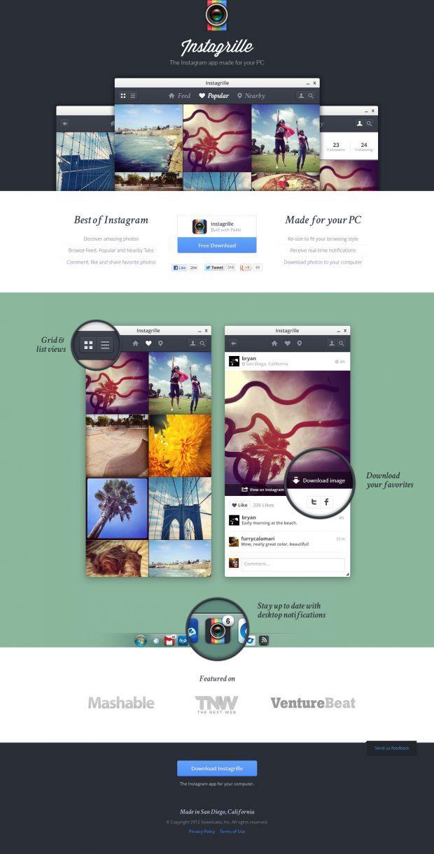 Instagrille - Instagram for your computer - Best website, web design inspiration showcase - www.niceoneilike.com