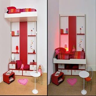 17 best images about lits escamotables on pinterest for Bureau qui monte