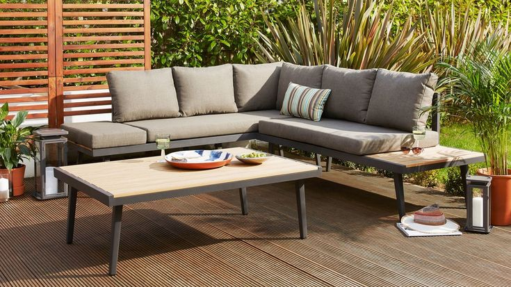 Palermo grey and wood coffee table