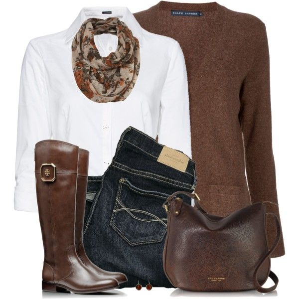 A fashion look from October 2014 featuring Ralph Lauren Blue Label cardigans, MANGO blouses and Abercrombie & Fitch jeans. Browse and shop related looks.