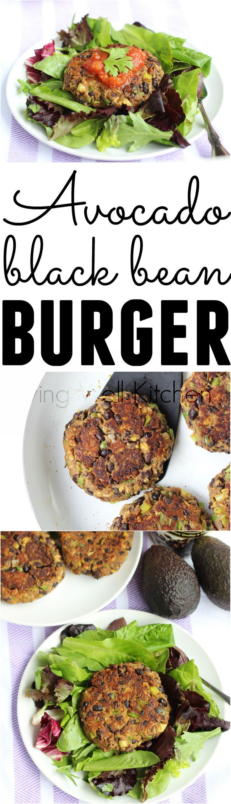 These tasty vegan avocado black bean burgers are delicious, filling, and easy on your wallet. This Avocado Black Bean Burger recipe is vegan and gluten free. You can make them ahead of time for lunch or dinner. Great idea for a meatless meal.