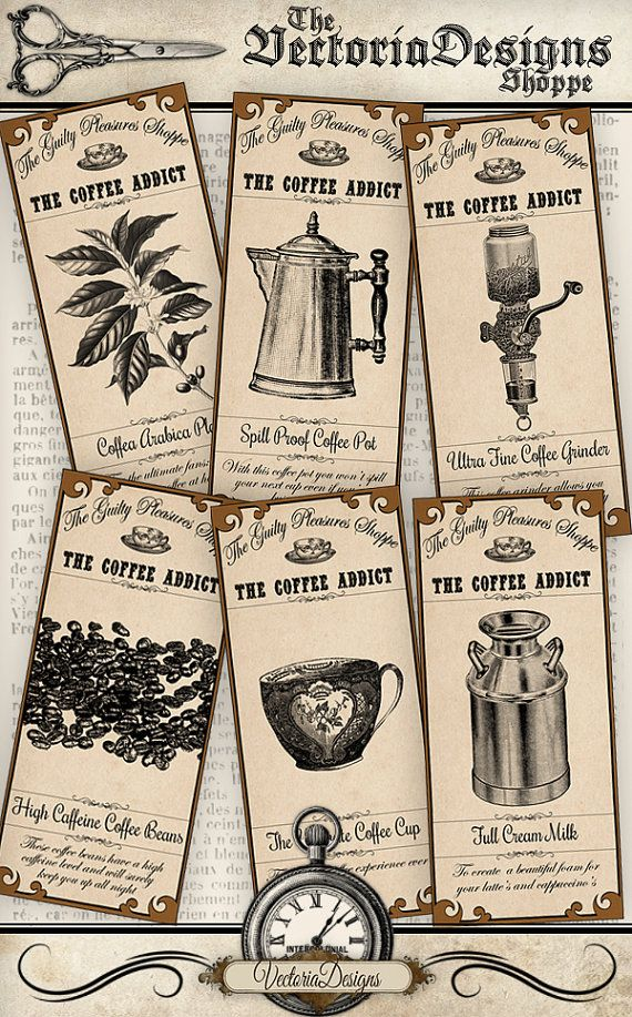 235 best coffee and tea themed cards images on pinterest for Themed printer paper