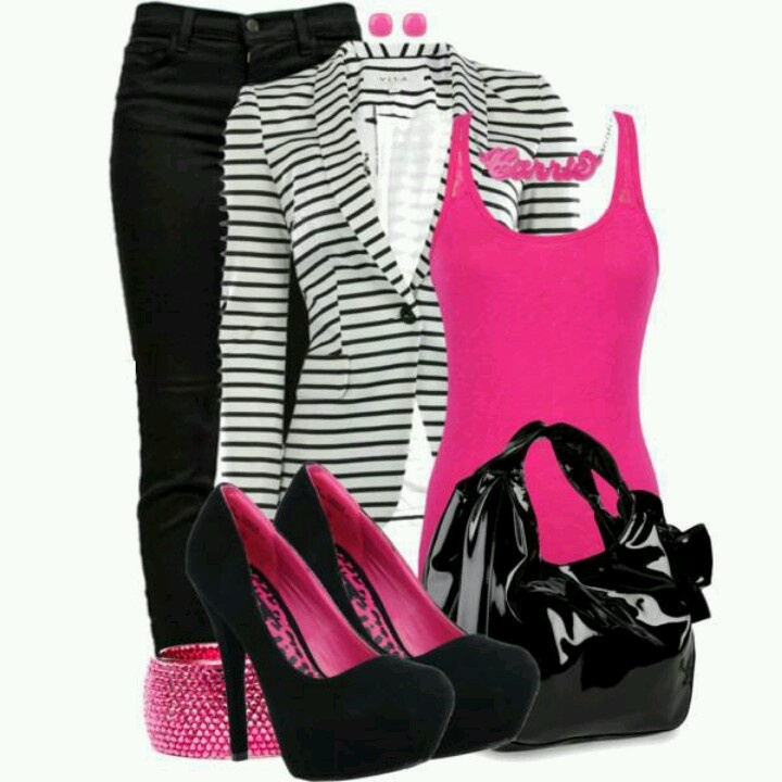 Lovin the pink and black!