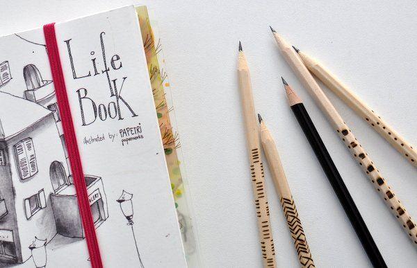 Ceruza dekorálás pirográffal - Masni / Easy pirograph project, pencil decoration DIY