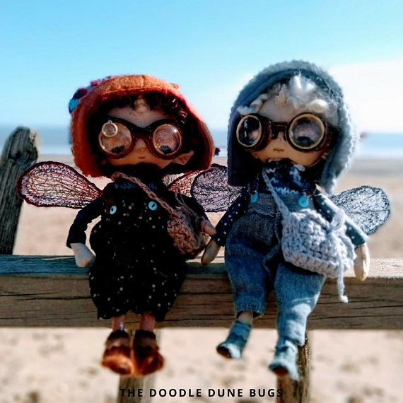 Niko and Milo, one of a kind little steampunk sand doodle dune bugs
