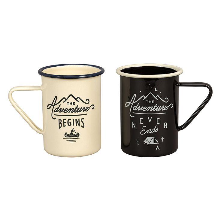 GENTLEMEN'S HARDWARE   Tall Enamel Mugs 340ml (set of 2) #botanex #botanexstore #coffee #coffeecup #outdoors #outdoorcooking