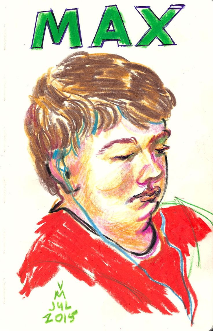 Study of my son Max, VoverM #drawing #crayons #moleskin #portraits #art