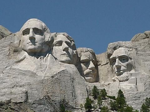 This should be an easy one. See Mt. Rushmore!