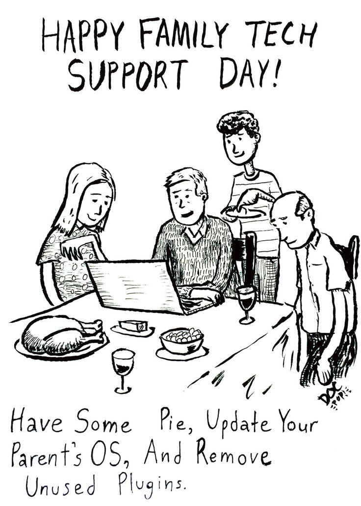 Hah, I missed this last November, but can relate -> Torque Toons: Family Tech Support Day