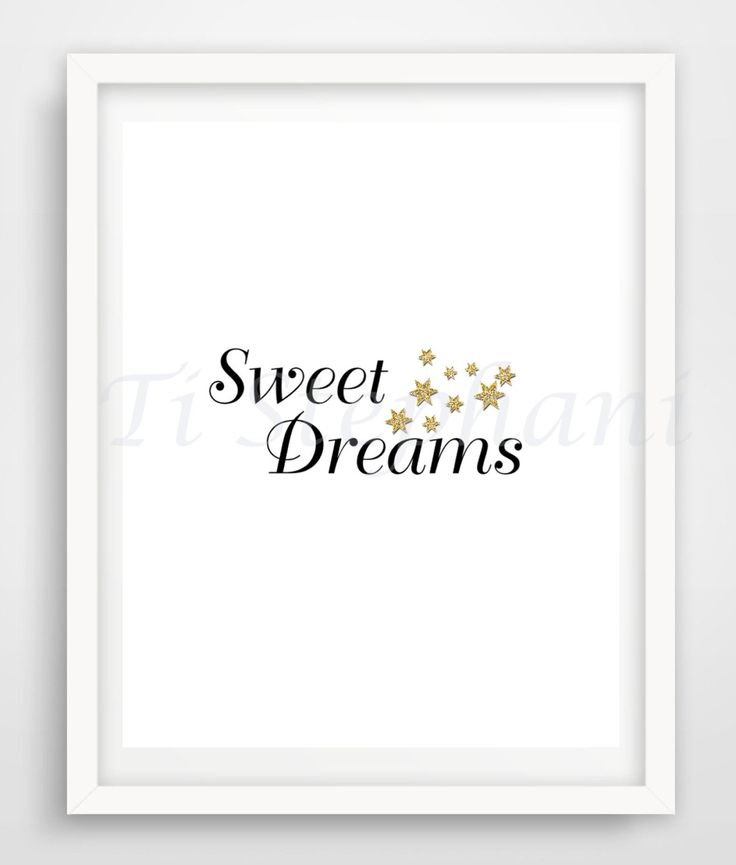 Sweet Dreams Print, Printable, Easy Prints, Downloadable Art, Wall Art, Wall Decor, Instant Downloads by TiStephani on Etsy