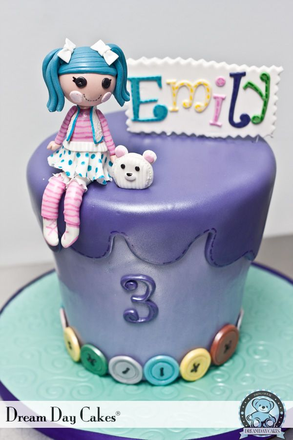 Dream Day Cakes Helped Celebrate A Young Girls Birthday With This Fun Whimsical Lalaloopsy Cake