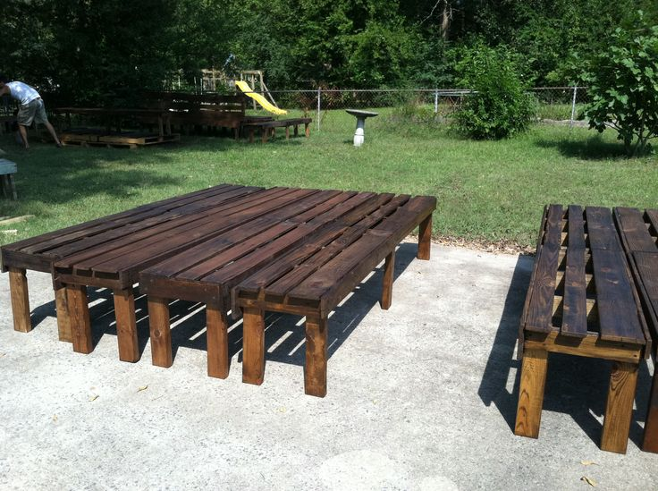 from pallets to benches for wedding via Abraham Rowe Photography