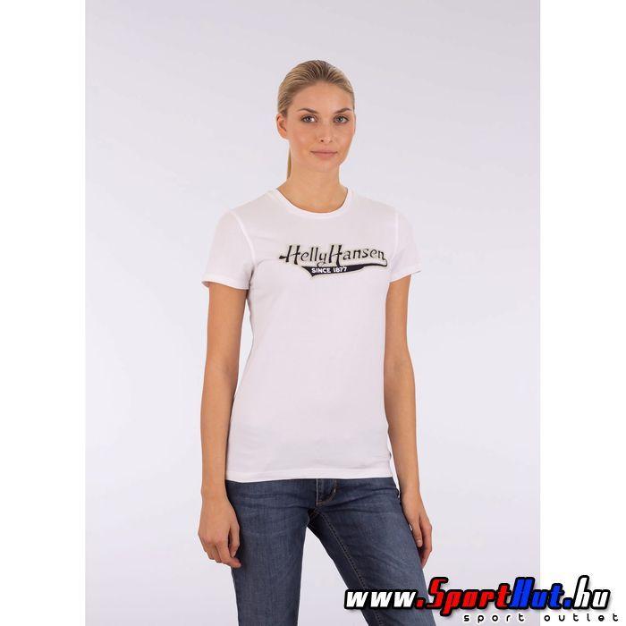 Helly Hansen női póló - W Graphic SS TEE - fehér színben