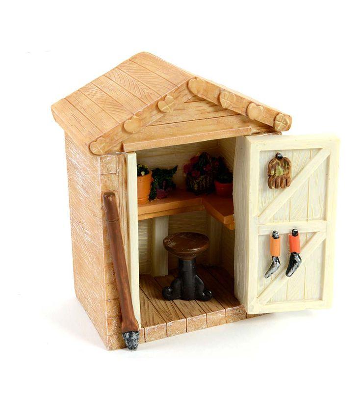 Miniature Fairy Garden Gardening Shed | Miniature Fairy Gardens