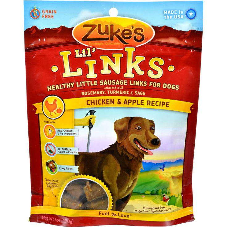 Zukes Dog Treats - Lil Links Chicken and Apple - 6 oz - Case of 12 - Healthy Little Sausage Links for DogsReward a job well done with tasty Lil' Links. Every grain-free bite is filled with down-home, healthy goodness - real meat, apples, potatoes, carrots, and antioxidant-rich herbs for a tasty treat your dog will wag about. Features and BenefitsReal meat and wholefood ingredients: nutrients from food - no artificial colors, flavors or added animal fatGrain-free: perfect for dogs on…