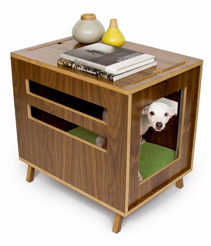 Modernist Cat   Circa50: Dwell - Dog Crate & Pet House - Available from www.modernistcat.com - #moderncat #moderndogfurniture #modernpet #dogcrate #midcenturymodern #moderndog