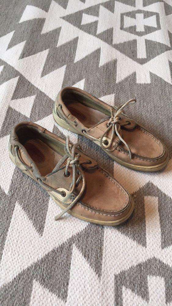 655998b228 Sperry Top-Sider Koifish Boat Shoes - Sz 6M - Tan  fashion  clothing ...