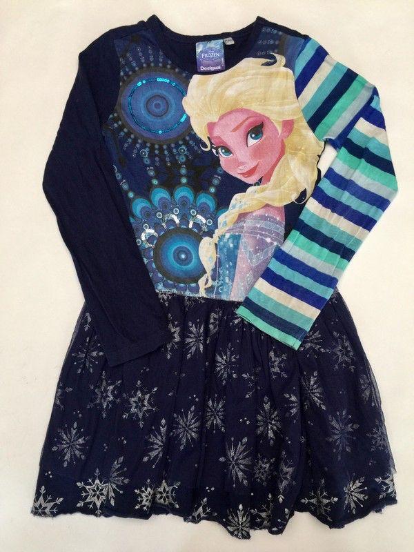 Robe reine des neiges  desigual 9/10 ans de marque Desigual. Taille 9 ans à 24.90 € : http://www.vinted.fr/mode-enfants/robes-courtes/35752458-robe-reine-des-neiges-desigual-910-ans.