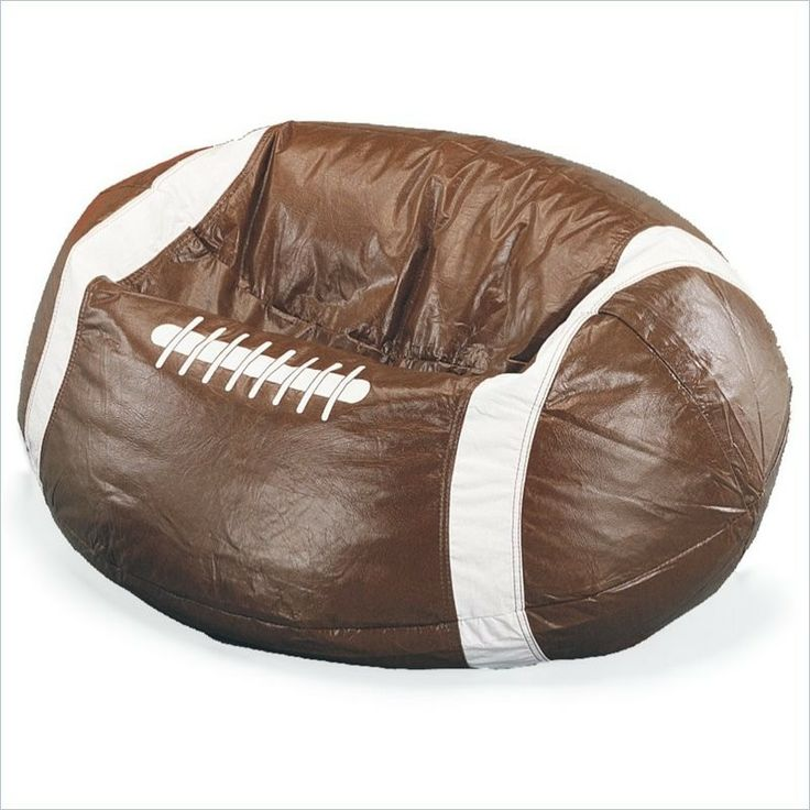 Marvelous Football Vinyl Foot Ball Bean Bag Chair Kids Room Sports Fan Quality  Durable New