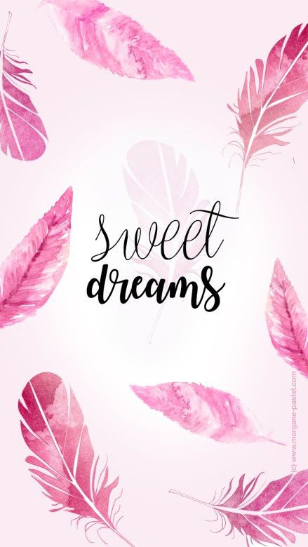 Wallpaper / Fond d'écran Plumes Girl Sweet Dreams Iphone - free download (c) Morgane Pastel