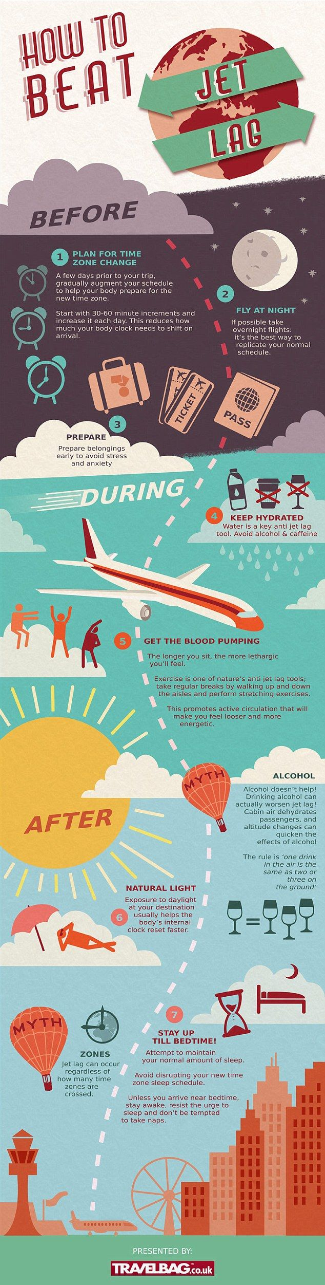 How to beat the dreaded jet lag: Infographic reveals how you can get your long-haul holiday off to the best start  | Daily Mail Online