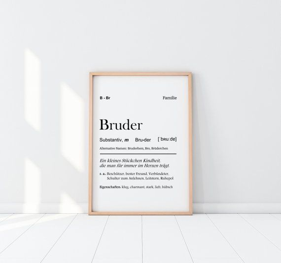 Art print Brother definition