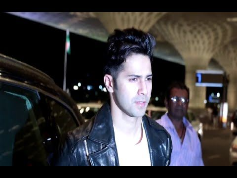 Varun Dhawan spotted at Mumbai airport leaving to US concert.