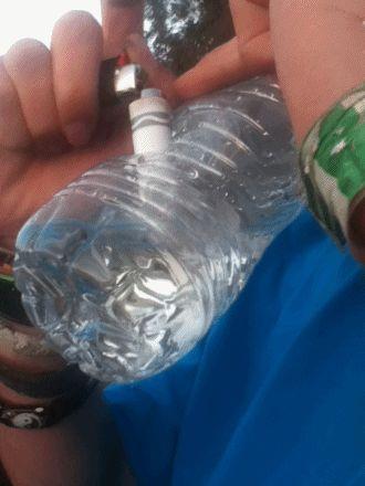 Homemade smart water bottle bong  #homemadegifts   #bongbeauties   #besmart