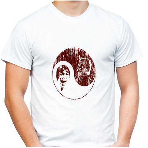 YinYang Horror T Shirt @zippiuk by hoganfinland #horror #scream #yinyang #opposites #psycho #halloween #fashion #tshirts #zippi #monster #creepy