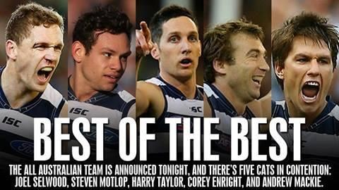 The five players named in All Australian Squad.