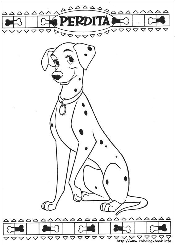 101 Dalmatians coloring picture 101 Day of School