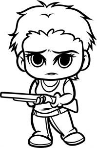 how to draw chibi carol from the walking dead step 11