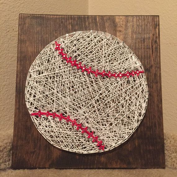 Baseball String Art MADE TO ORDER by StringsbySamantha on Etsy