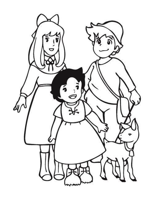 Heidi e gli amici disegni da colorare gratis - disegni da colorare e stampare gratis immagini per bambini Disney
