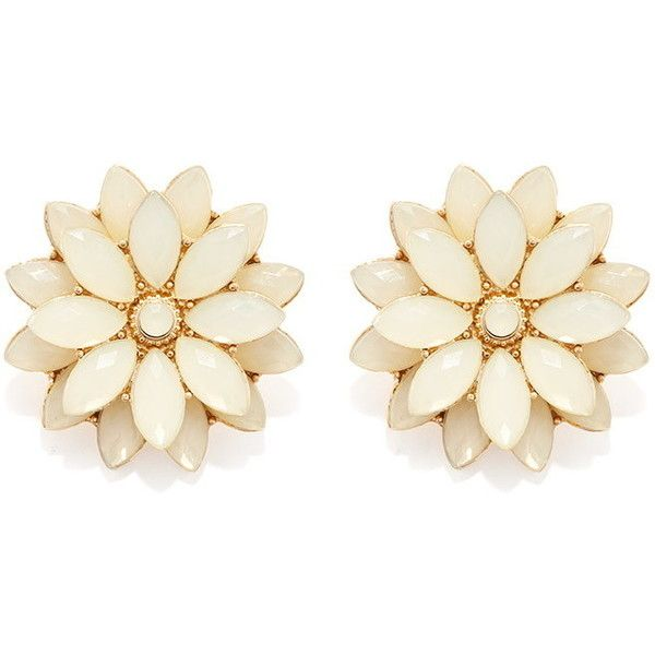 Forever 21 Faux Gem Flower Studs Found On Polyvore Featuring Jewelry Earrings Accessories Stud Post G