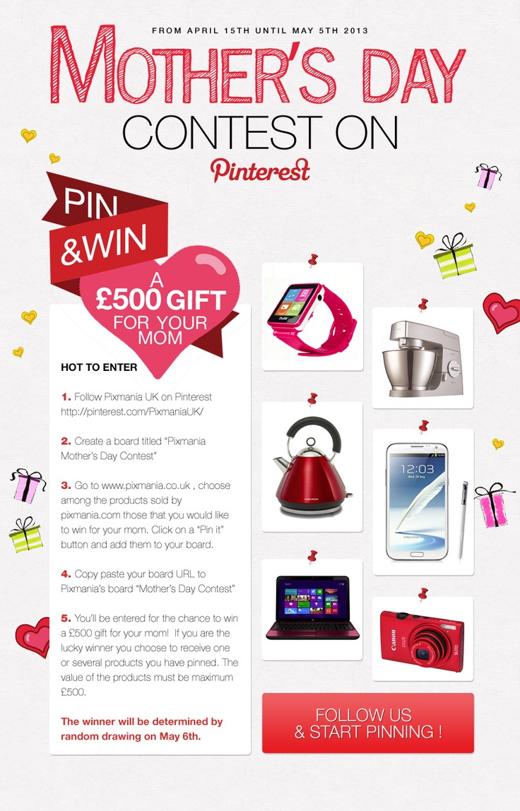 Pixmania Mother's Day #pinterest contest : Copy/paste your board's URL here