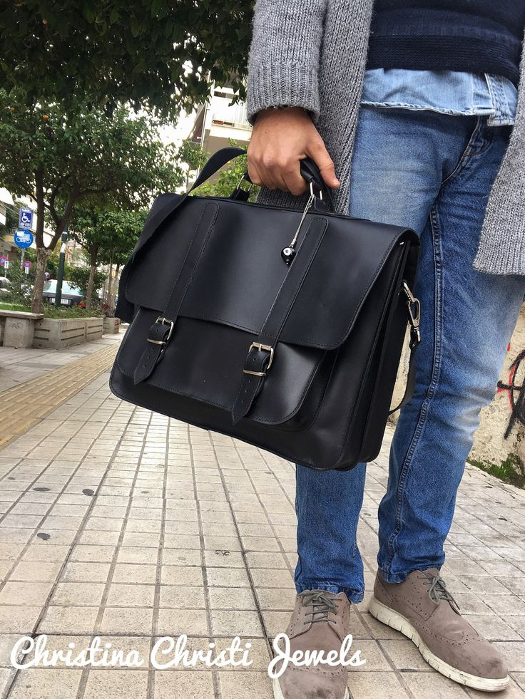 Excited to share the latest addition to my #etsy shop: Leather Briefcase Men, Black Leather Messenger Bag, Men's Briefcase, Laptop Briefcase, Messenger Bag, 17'' Laptop Bag, Made in Greece. http://etsy.me/2yV0ixz #bagsandpurses #black #leatherbriefcase #briefcasemen #b