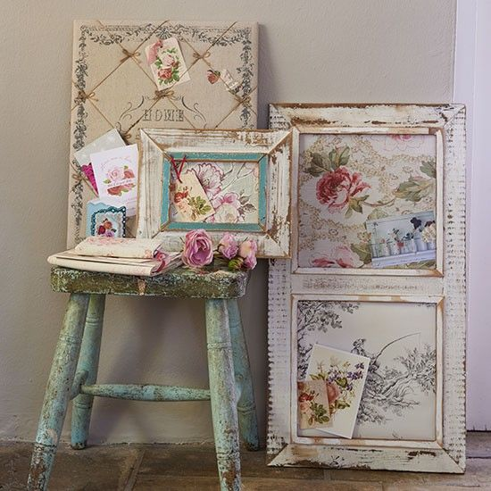 Crafting floral artwork to pretty-up the country interior. For more inspiring craft ideas visit the Country Homes & Interiors website...