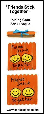 Friends that Stick Together Craft Stick Craft www.daniellesplace.com