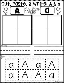 sorts cut paste write uppercase lowercase letters sort kindergarten pre k worksheets printables. Black Bedroom Furniture Sets. Home Design Ideas
