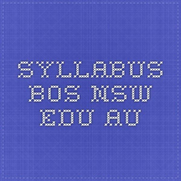 TEACHER RESOURCE: syllabus.bos.nsw.edu.au
